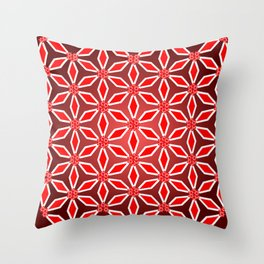Flowers and patterns Throw Pillow