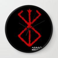 berserk Wall Clocks featuring Berserk Sacrifice by Vortha