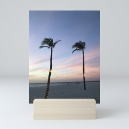 Sunset/Palm/Trees Mini Art Print