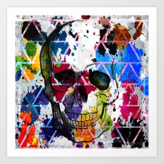 Abstract Skull Art Print