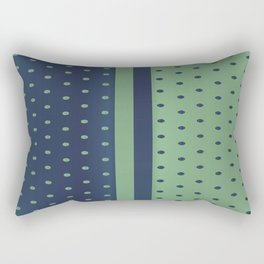 Sage Green and Slate Blue Polka Dots Rectangular Pillow