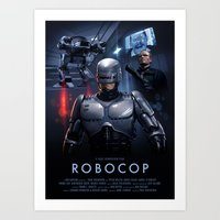 robocop Art Prints featuring RoboCop by Brian Taylor