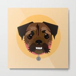 Princess Bubblegum the Terrier Pug Metal Print
