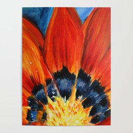 Orange Flower Painting Poster