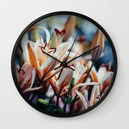 Lilies in Shadow, from my floral photography collection Wall Clock