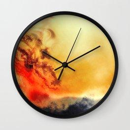 Riding wind in heaven Wall Clock