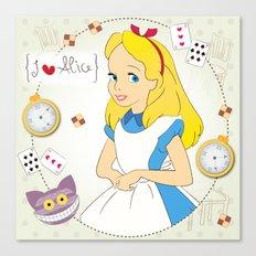 I {❤} Alice In Her Wonderland Canvas Print
