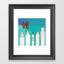 LOVE shine Framed Art Print