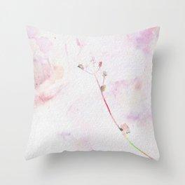 Solitary flower Throw Pillow