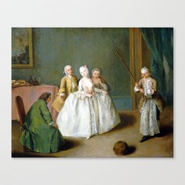 Pietro Longhi The Game of the Cooking Pot Canvas Print