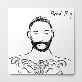 Beard Boy Tattoo 1 Metal Print