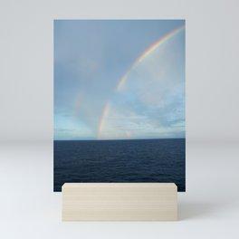 CARIBBEAN DOUBLE RAINBOW Mini Art Print