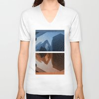 cities V-neck T-shirts featuring Two Cities by brittcorry
