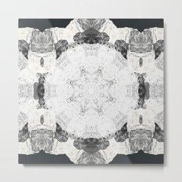 Moon Rock Mandala Metal Print