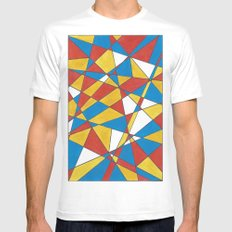 GLASS White MEDIUM Mens Fitted Tee