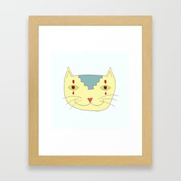 Aztec Cat Framed Art Print