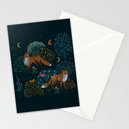 Forest Foxes Stationery Cards
