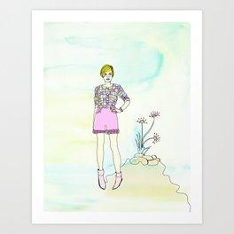 PING PONG KITTEN Art Print