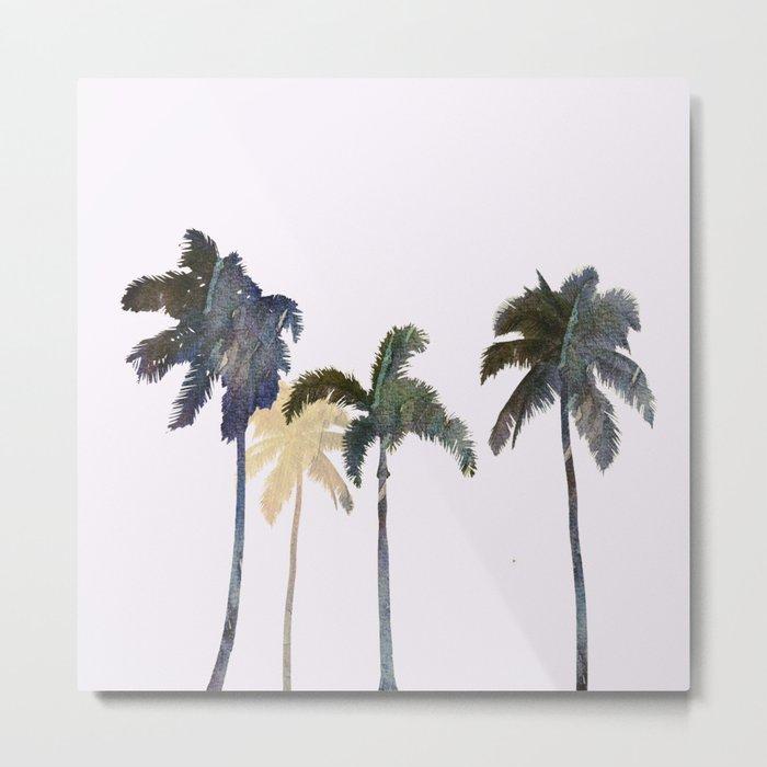 Palm trees watercolor Metal Print