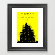 Do Not Worship. Framed Art Print