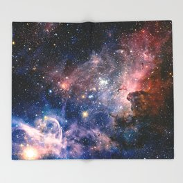 Carina Nebula's Hidden Secrets Throw Blanket