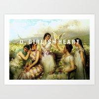 o, girlish heart Art Print