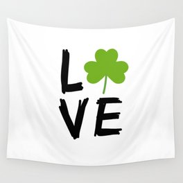 Love St Patricks Day Wall Tapestry