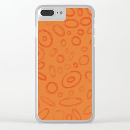 Orange Moonscape Circles and Ellipses #Abstract #Repeating Clear iPhone Case