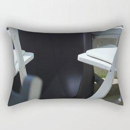 Four White Wooden Chairs... Rectangular Pillow