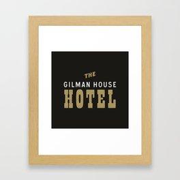 The Gilman House Hotel Framed Art Print