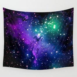 Eagle Nebula Purple Green Teal Wall Tapestry