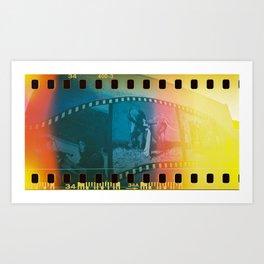 Documentary Building Film Strip Art Print