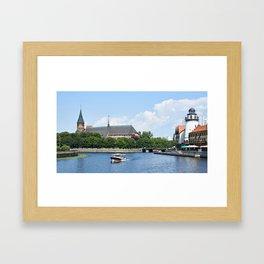 Place Fishing Village - ethnographic center and Cathedral. Kaliningrad Framed Art Print