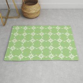 Green Loop Grid Pattern Rug