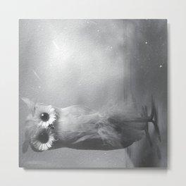 Owl Sideways  Metal Print