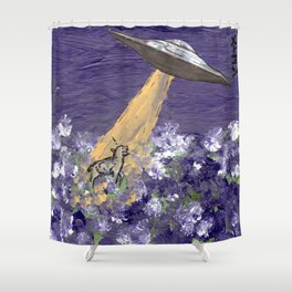 Abduction of the Delighted Lamb Shower Curtain