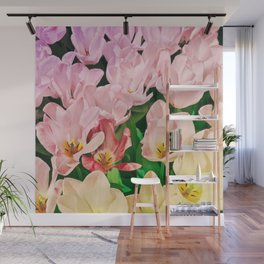 Blooming Tulips Wall Mural