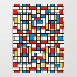 Mondrian design, abstract pattern Poster