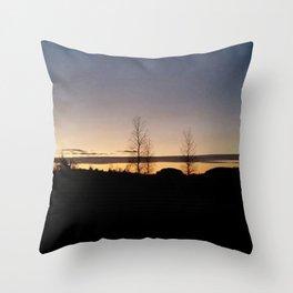 Trees in the Horizon Throw Pillow
