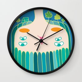 Forest in mi hair Wall Clock