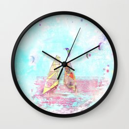 Surfen on Baltic sea Wall Clock