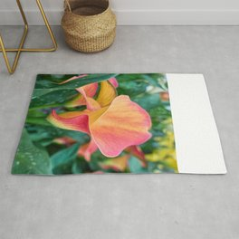 colored calla lily in the garden Rug