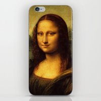 mona lisa iPhone & iPod Skins featuring Mona Lisa by Color and Patterns