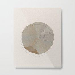 Cat Circle Metal Print