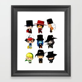 Anime Hatters Framed Art Print