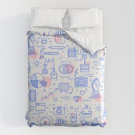 The fans pattern Comforters
