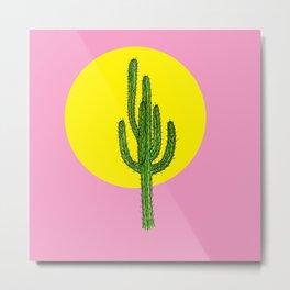 Summer Cactus Metal Print