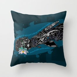Cybernetic prosthesis Throw Pillow