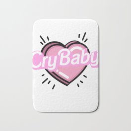 cry baby heart Bath Mat
