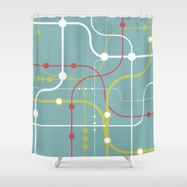 Line By Line - Bubblegum Pop-A Shower Curtain